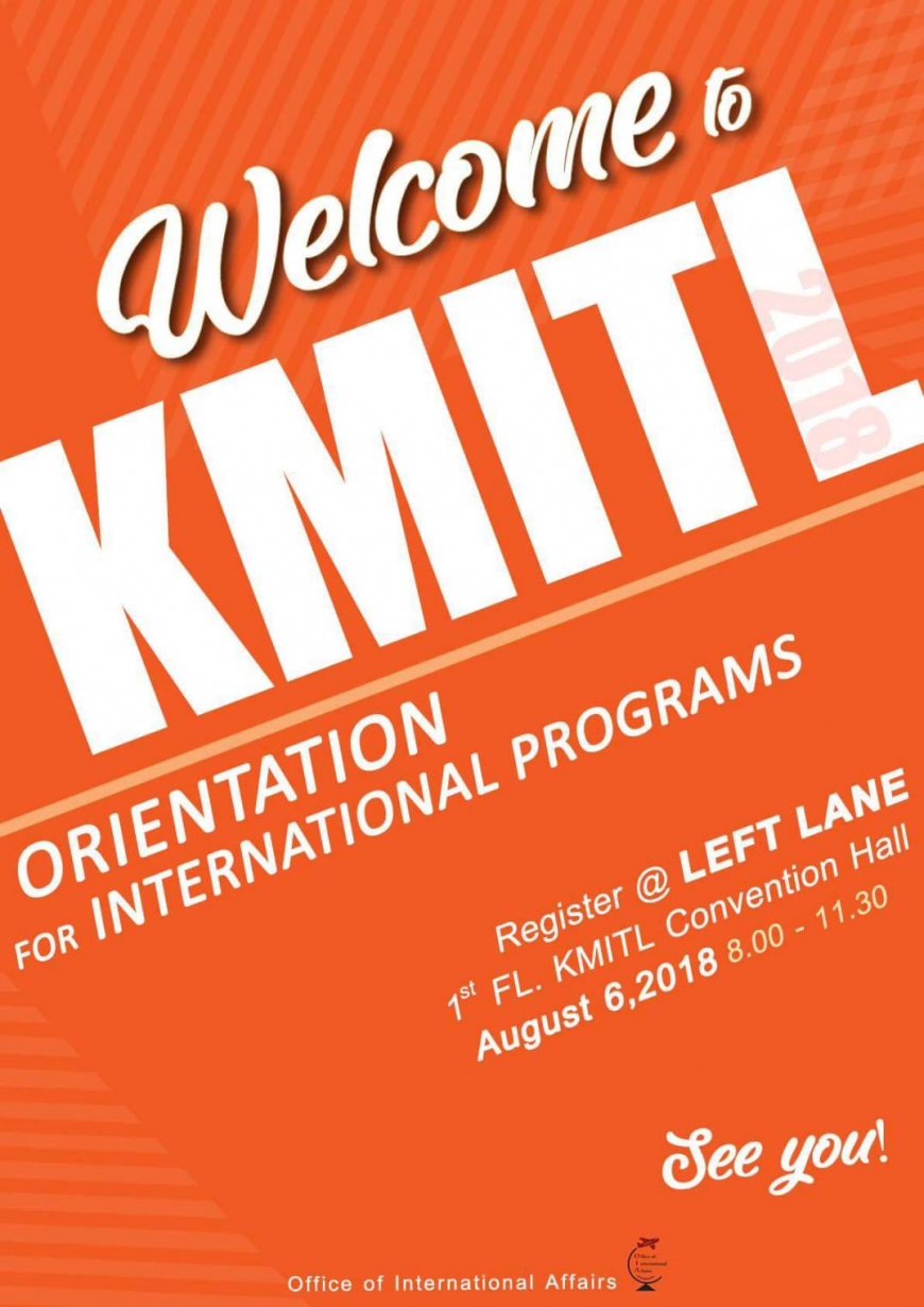 Orientation for the new freshmen of international programs, KMITL